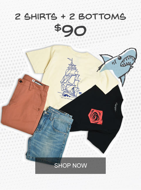 2 Shirts + 2 Bottoms for $90