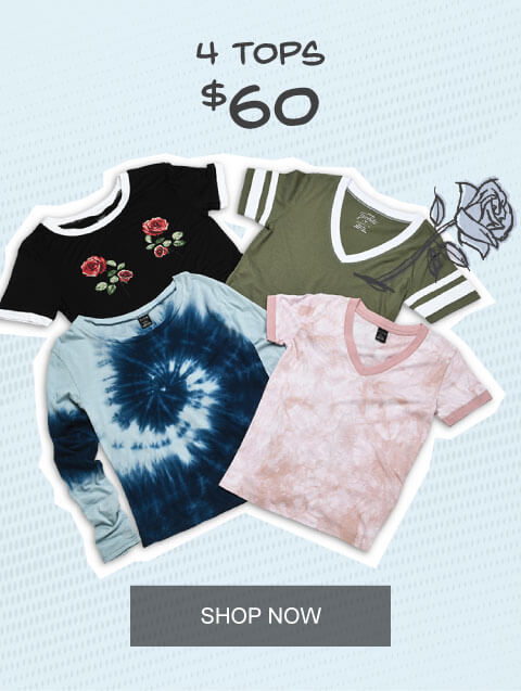 Mix & Match 4 Tops for $60