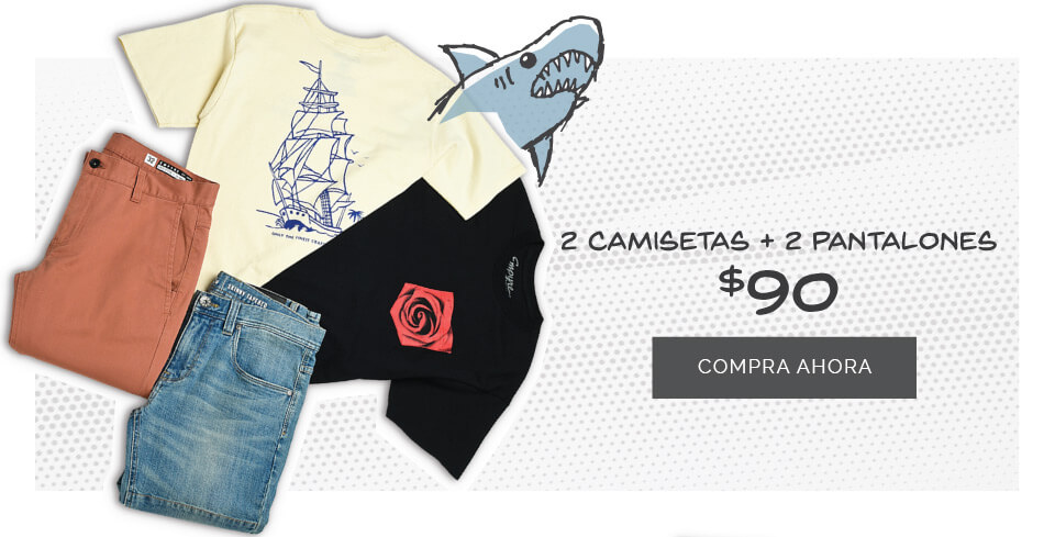 2 Camisetas + 2 Bottoms por $90
