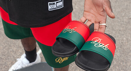 a4148e4ce61 Slides featuring the DGK Lux Black slide sandal