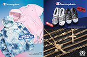 Champion clothing for men, Champion slippers for men and women and necklaces from The Gold Gods.