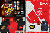 The new DGK x Bruce Lee collection, clothing from 4Hunnid and a hoodie and backpack by Cookies.