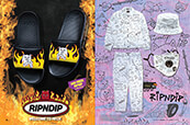 RIPNDIP slide sandals, clothing and accessories.