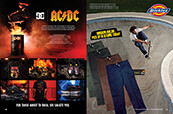Shop the DC x ACDC collection along with men's pants from Dickies.