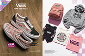 Women's Vans clothing, shoes, and accessories.