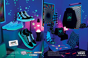 Shop the Vans glow-in-the-dark collection, featuring shoes, clothes and accessories.