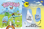 Shop RIPNDIP, featuring the Let's Make Love collection and UV slides.
