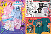 Men's pastel styles from Odd Future, plus anime vibes from The Artis Collective and trippy Killer Acid graphics.