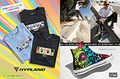 Shop Hypland x Hunter x Hunter tees and Converse blacklight sneakers.