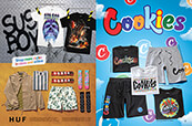 Check out tees and more from Sus Boy, Huf and Cookies.
