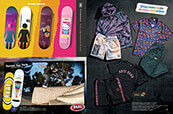 Check out decks from Girl and Real Skateboards, and shop graphic skate apparel.