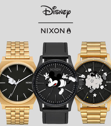 Watches featuring Nixon & Disney's Mickey Mouse 90th Anniversary collection.
