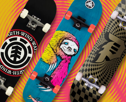 Pre built skateboards from top brands like Santa Cruz, Primitive, and Element come assembled with everything you need.