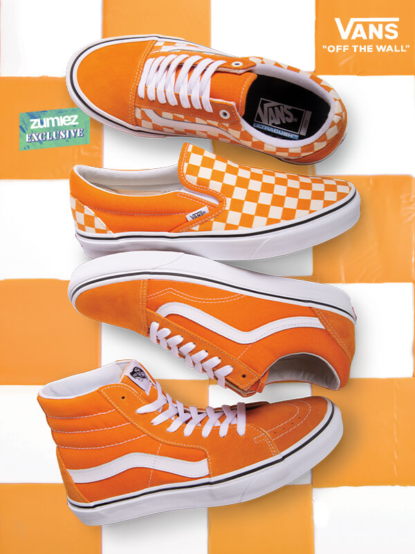 e00aef4ad1e24f VANS CLASSIC CHECKERS - NOW IN CHEDDAR ORANGE - SHOP VANS