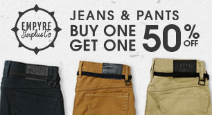 Mens Empyre Jeans & Pants Buy 1 Get 1 50% Off