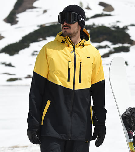 Find snow outerwear featuring the black and yellow Empyre snow jacket.