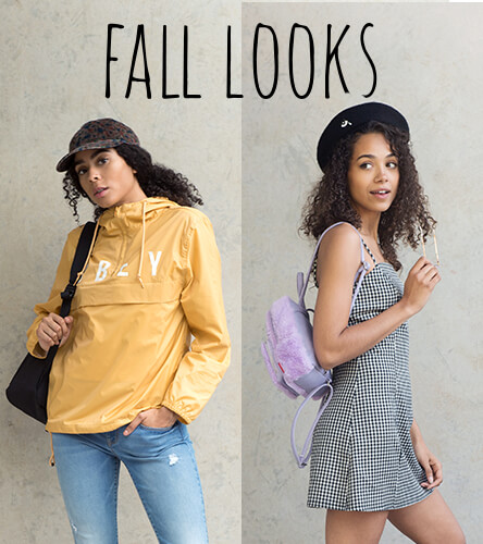 Women's outfit inspiration with looks featuring fall styles from Obey, Vans, Fila and other great brands.