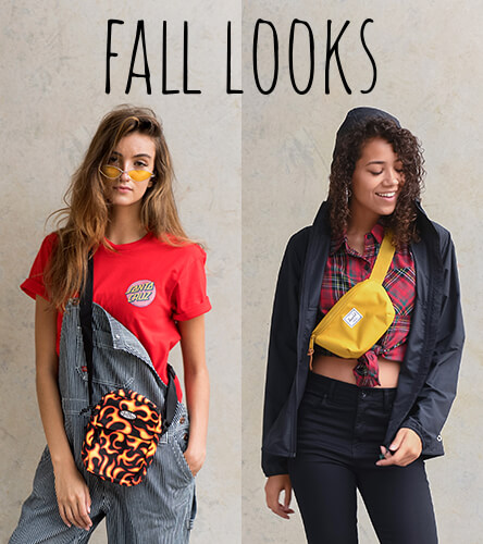 Women's fall outfit inspiration featuring great styles from brands like Converse, Fila, Rothco, Dickies, Santa Cruz and more.