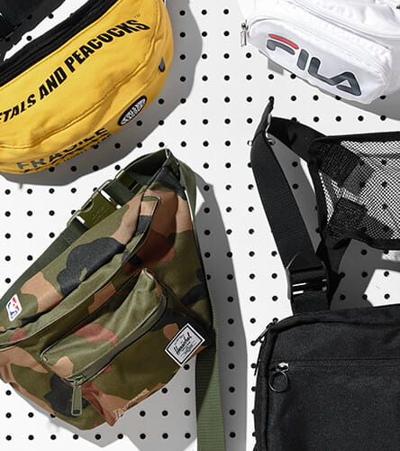 Trend-right fanny packs from Fila, Herschel and other top brands.