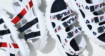 size 40 175dc 536bc All sandals, featuring FILA Disruptor sandals, along with slides from  brands like Champion and