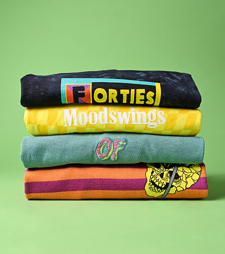 Shop all men's tees, featuring short- and long-sleeved striped styles, along with graphic options from top brands.