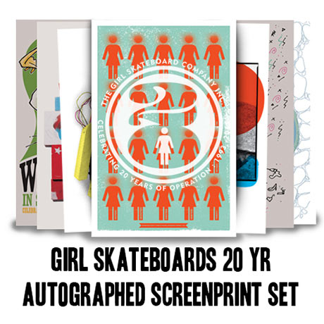 Girl Skateboards: 20th Anniversary Screen Prints