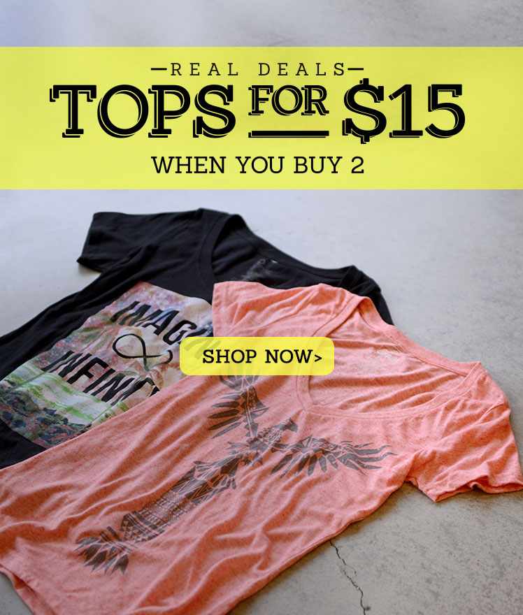 Women's 2 for $30 Tops Deal