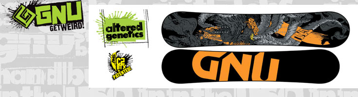 gnu altered genetics snowboard