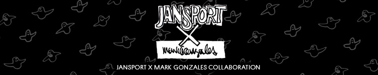 Jansport brand page featuring Mark Gonzales Collaboration