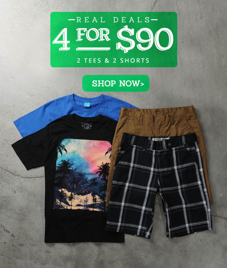 Men's 4 for $90 Clothing Deal