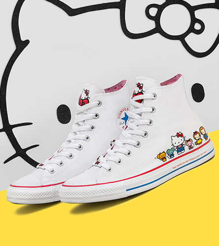 Shoes featuring Converse x Hello Kitty Collection