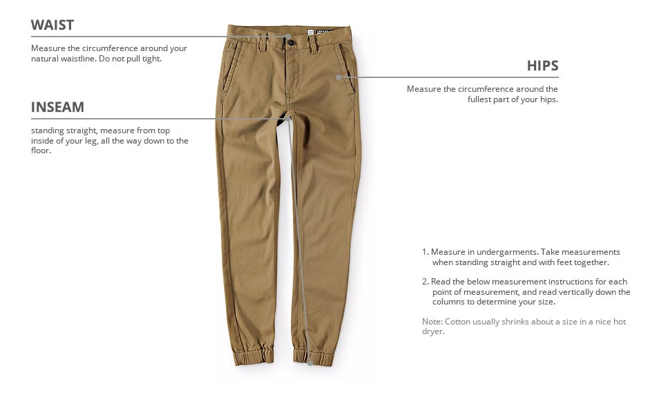 how to measure kids pants