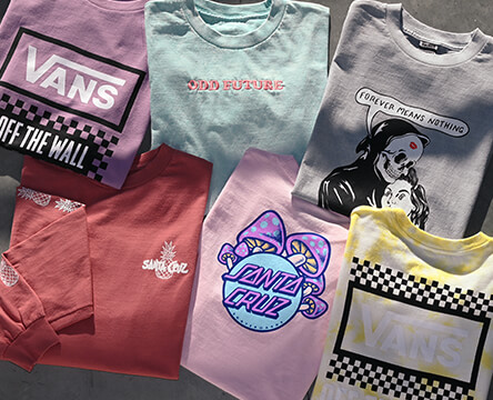 Tees for women, featuring new styles from Vans, Santa Cruz, Broken Promises, Odd Future and many more hot brands.