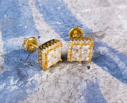 New jewelry featuring earrings from King Ice, plus chains, bracelets, and more from top brands.