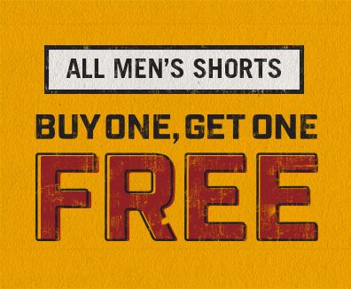 All Men's Shorts Buy 1 Get 1 Free