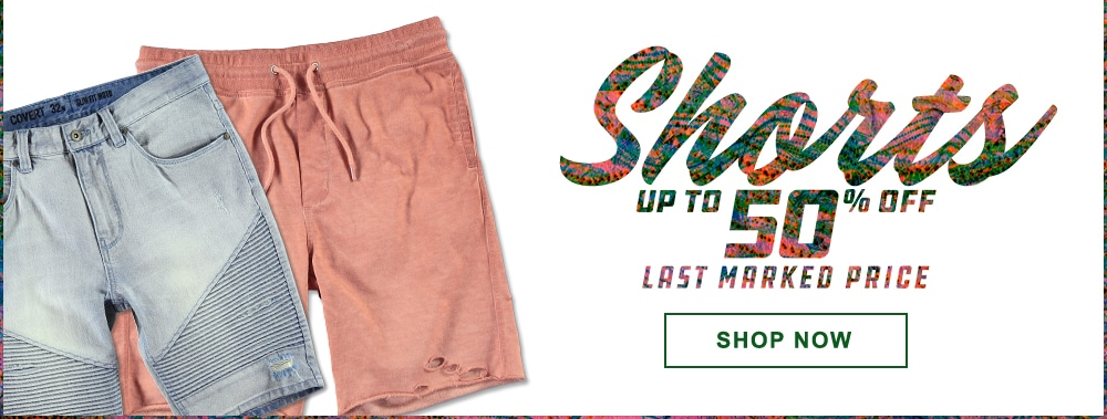 Men's Shorts Up to 50% Off Last Marked Price
