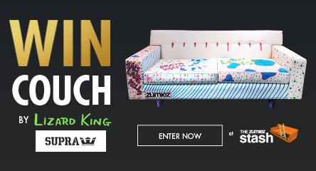 Win a Custom Supra Couch painted by Lizard King