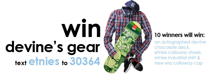 Win Devine Clothing Kit and Autographed Board