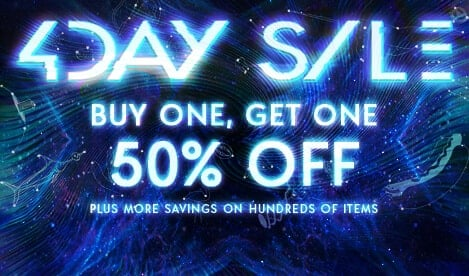 4-Day Sale. Buy One, Get One 50% Off. Plus More Savings on Hundreds Of Items.