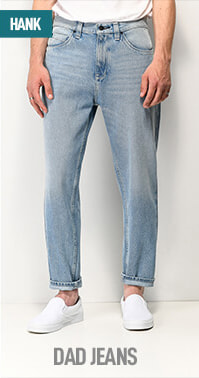 Vintage inspired fit - the dropped rise Empyre Hank jean with has a roomy thigh that tapers to narrow leg opening; with a shorter inseam they show off your shoes