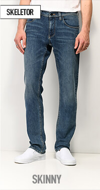 Low rise Empyre Skeletor jeans with narrow fit through thighs and leg