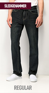 Regular fit Empyre Sledgehammer jeans with room through the entire length of the leg