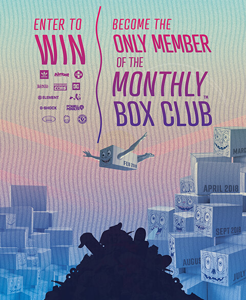Become the only member of the Monthly Box Club