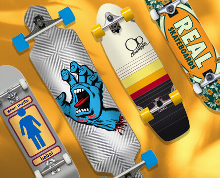 Skate completes featuring street completes, longboards and cruisers from top brands like Girl, Santa Cruz, OP, Real, and more.