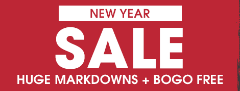 New Year Markdowns and BOGO