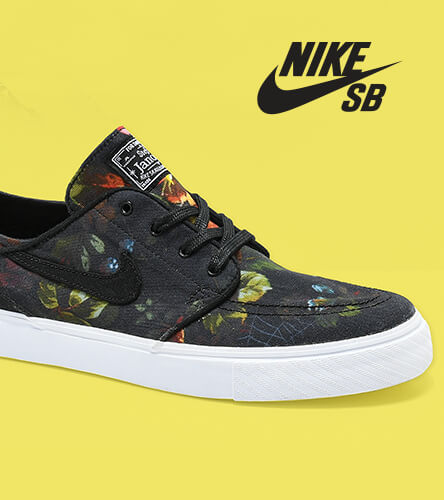 Check out Nike shoes and apparel featuring the Nike Janoski Skate shoe in a floral pattern.