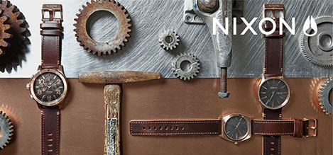 Nixon Rose Gold Burnished Watches