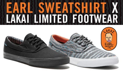 earl sweatshirt lakai shoes