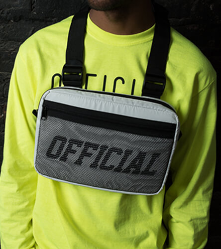 Fanny packs, slings, & chest bags featuring the white utility bag by Official
