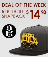 Rebel8 3D Snapback Hat